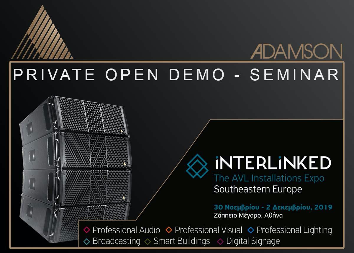 Private Open Demo – Seminar για τα Adamson S-7 και S-10 από την  Kariotis Audio & Lighting στην Ελευσίνα.